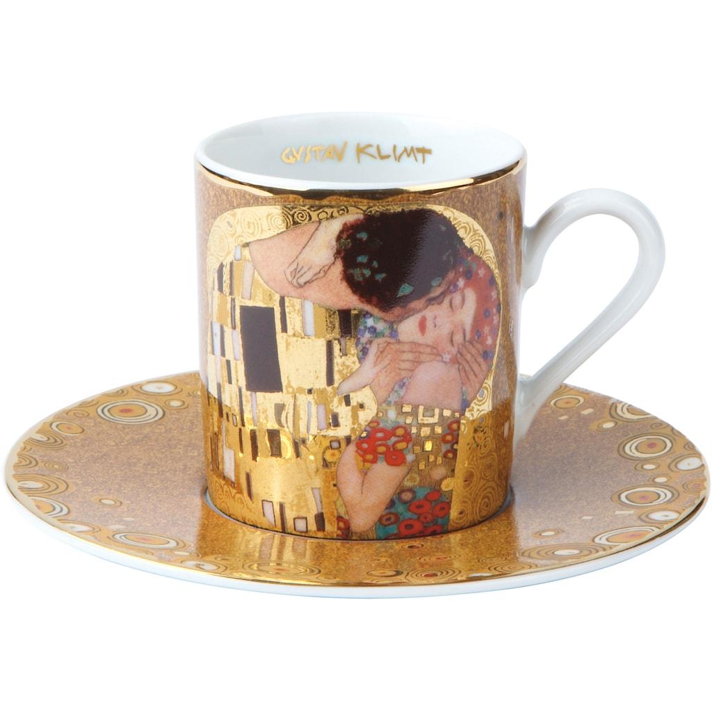 Goebel Espressotasse »Der Kuss«, goldfarben, Höhe ca. 6 cm