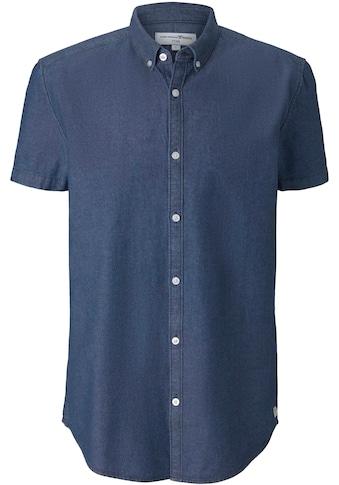 TOM TAILOR Denim Kurzarmhemd, hochwertige Chambray-Optik kaufen
