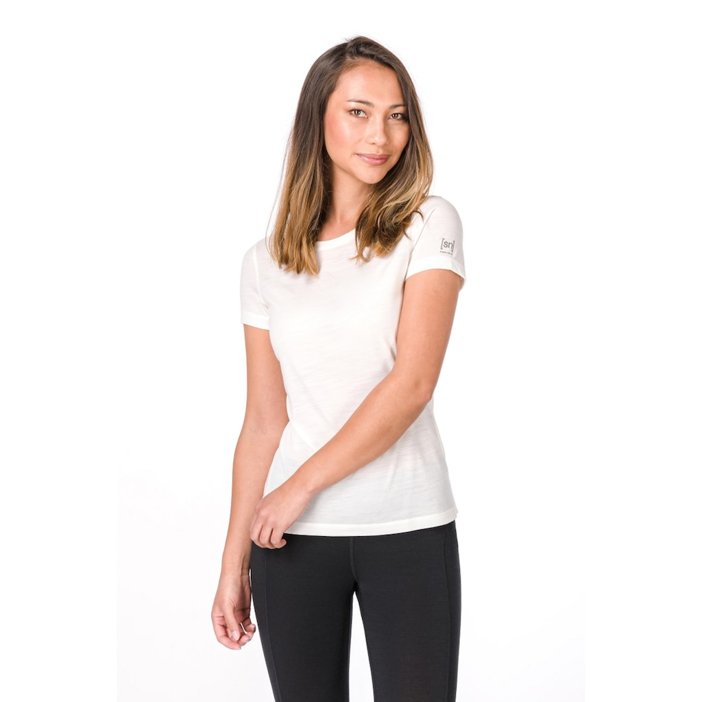 SUPER.NATURAL T-Shirt »W BASE TEE 175«, funktioneller Merino-Materialmix