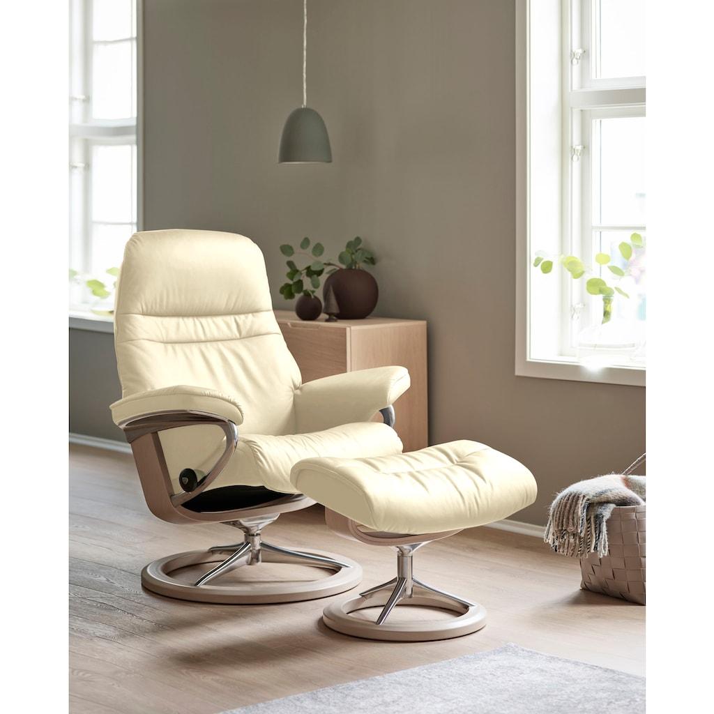 Stressless® Relaxsessel »Sunrise«, mit Signature Base, Größe M, Gestell Whitewash