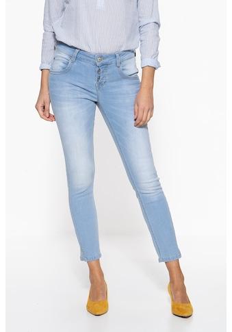 ATT Jeans Slim-fit-Jeans »Delia«, mit halb verdeckter Knopfleiste kaufen