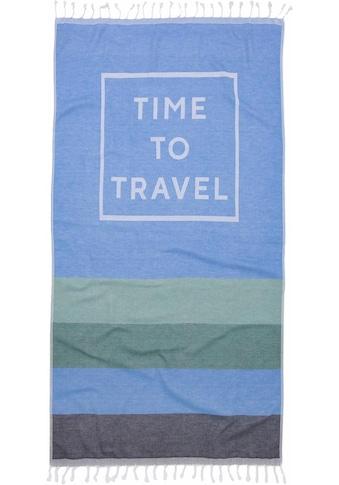 "Hamamtuch ""Time to travel"", Seahorse kaufen"