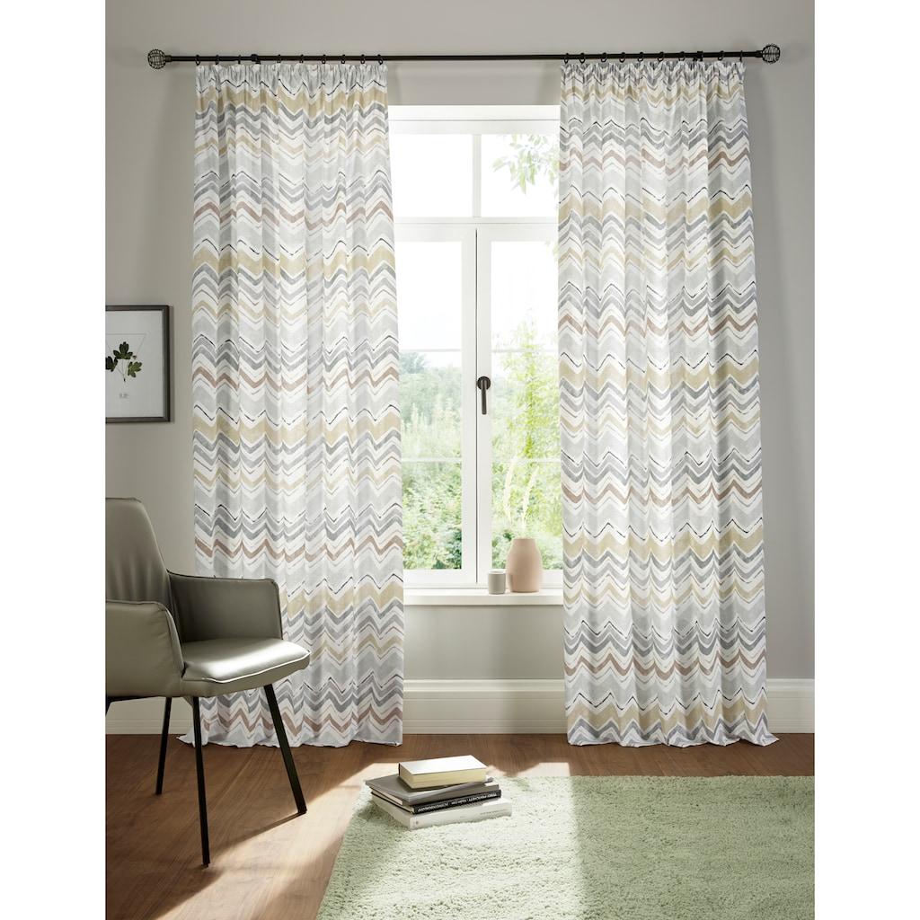 andas Vorhang »Thala«, blickdicht, Bio-Baumwolle, einseitig bedruckt, waschbar