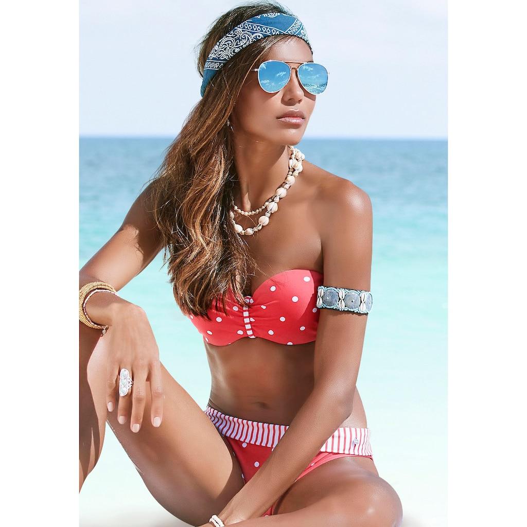 s.Oliver Bügel-Bandeau-Bikini-Top »Audrey«, mit Mustermix aus Punkten und Streifen