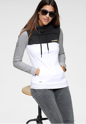KangaROOS Kapuzensweatshirt, mit modischer Kombination aus Color-Blocking und Streifen kaufen