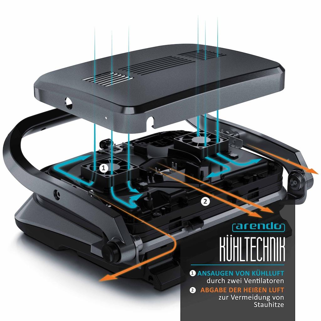 Arendo Kontaktgrill mit Digitalsteuerung in Grau
