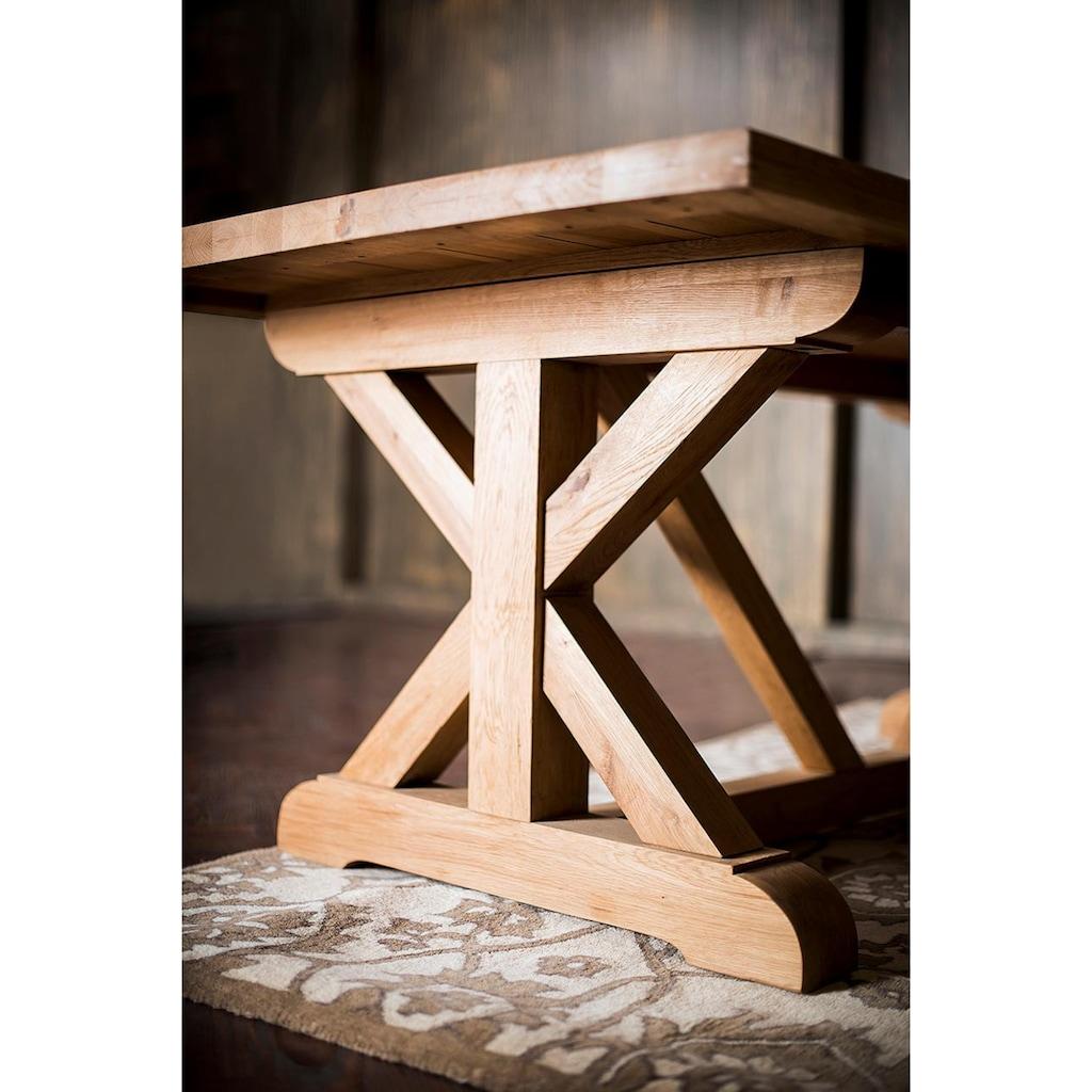 Home affaire Esstisch »Versailles«, mit eingearbeiteten Schnitten in der Tischplatte und gekreuzten Beinen