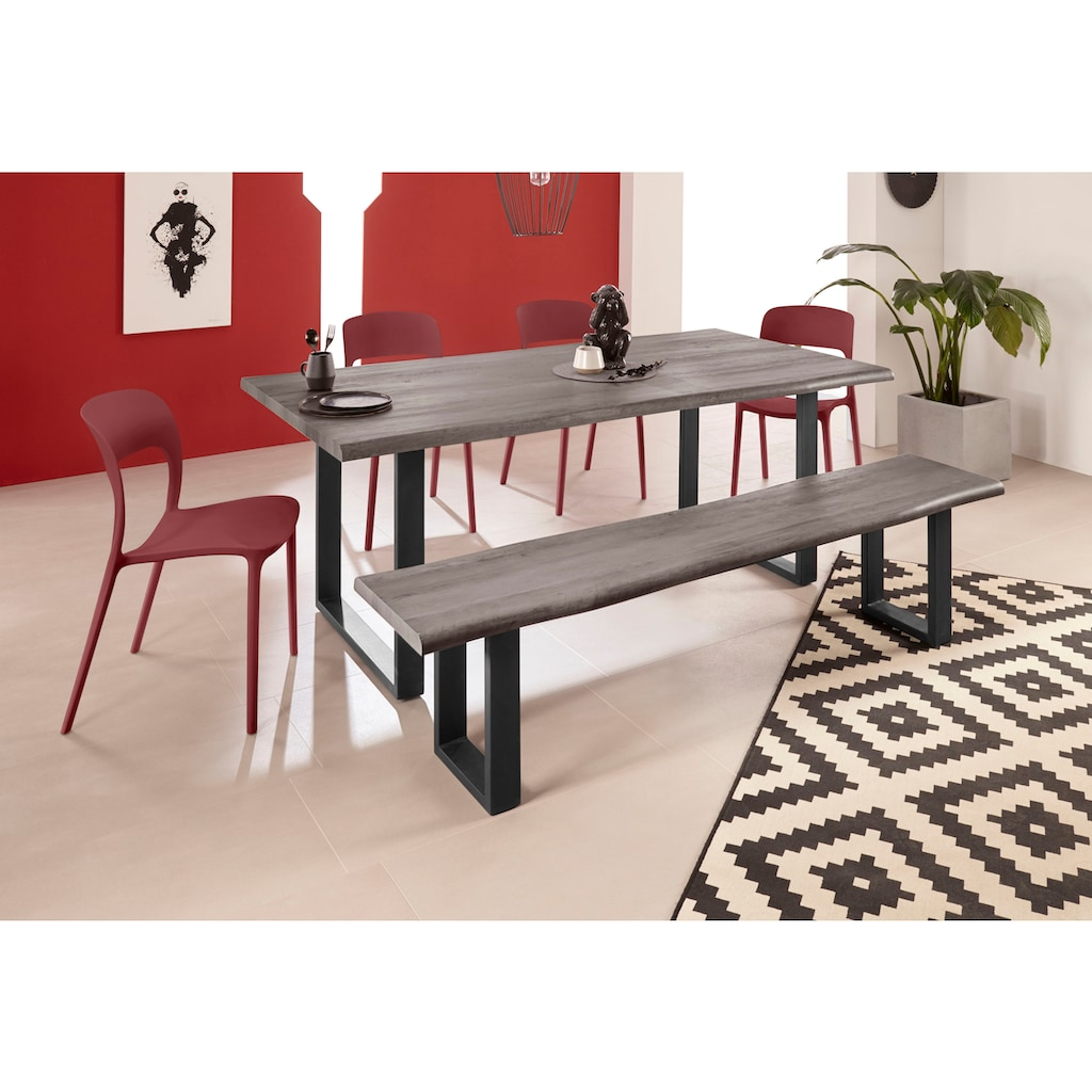 INOSIGN Esszimmerstuhl »Wien«, im 2er und 4er Set, in vier trendigen Farbvarianten, aus Kunststoff, Sitzhöhe 44, 5 cm