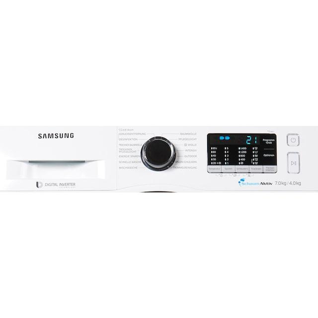 Samsung Waschtrockner WD5000 WD70J5A00AW, 7 kg / 4 kg, 1400 U/Min