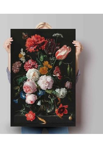 Reinders! Poster »Poster Stillleben mit Blumenvase Jan Davidsz de Heem - Alte Meister... kaufen