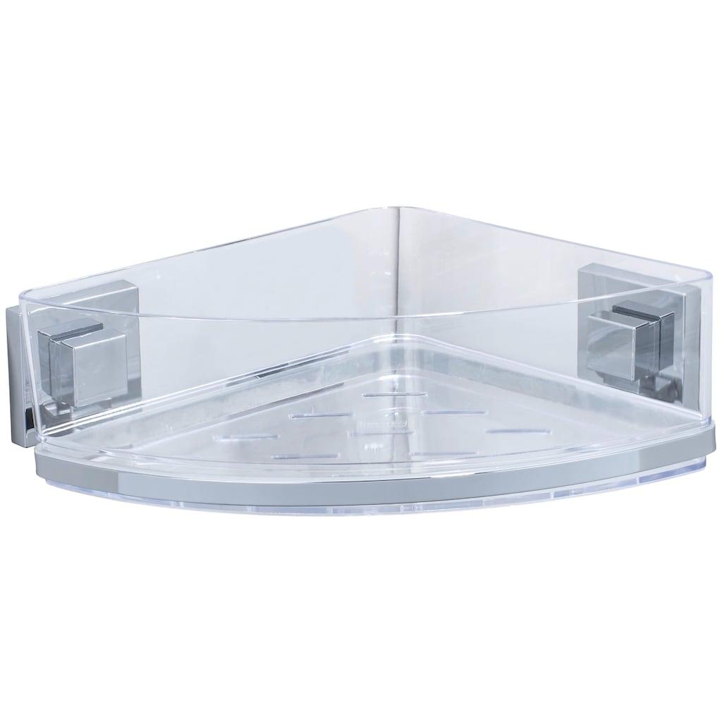WENKO Eckregal »Vacuum-Loc Quadro«, (1 St.), Duschablage