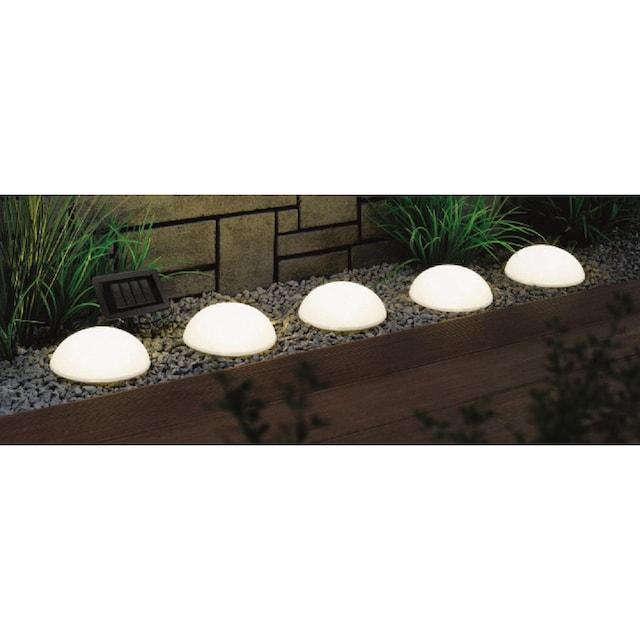 BONETTI,LED Gartenleuchte»Solar Halbkugeln - 5er-Set«,