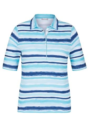 Rabe T - Shirt mit Streifen und Polo - Kragen kaufen