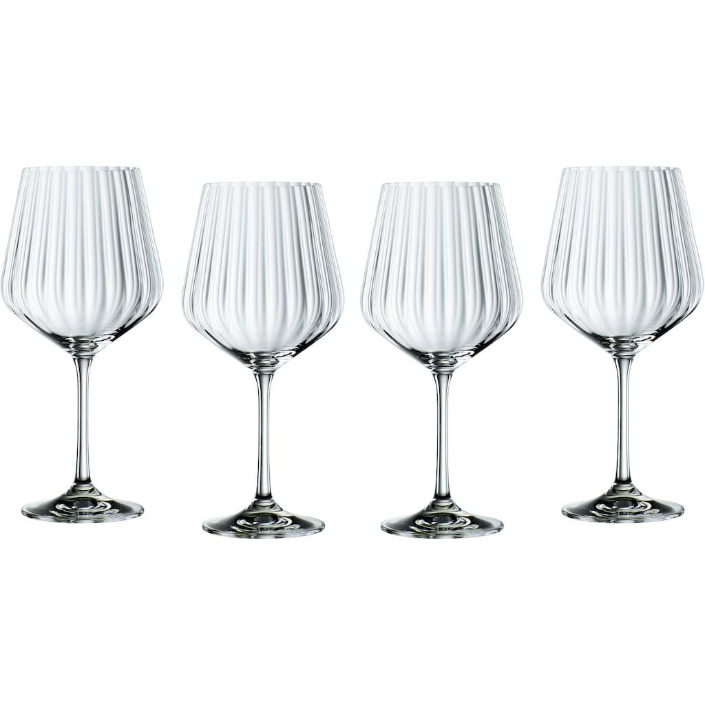 Nachtmann Cocktailglas »Optic«, (Set, 4 tlg.), Gin Tonic, 640 ml, 4-teilig