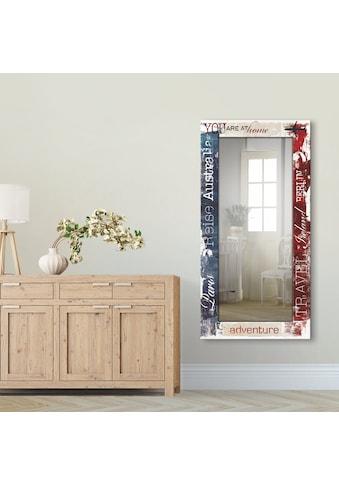 Artland Wandspiegel »Reisen«, gerahmter Ganzkörperspiegel mit Motivrahmen, geeignet... kaufen