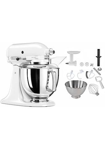 KitchenAid Küchenmaschine »5KSM175PSEWH Artisan«, 300 W, 4,8 l Schüssel, inkl.... kaufen