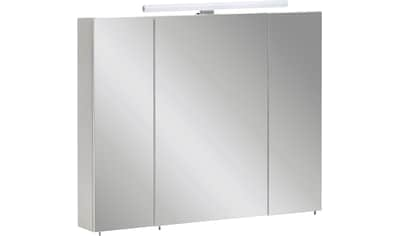 Schildmeyer Spiegelschrank »Nikosia«, Breite 80 cm, 3-türig, LED-Beleuchtung,... kaufen