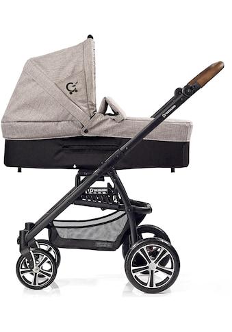 Gesslein Kombi-Kinderwagen »F4 Air+« mit Babywanne »C3, Stein meliert/Tupfen«, ; Made in Germany kaufen