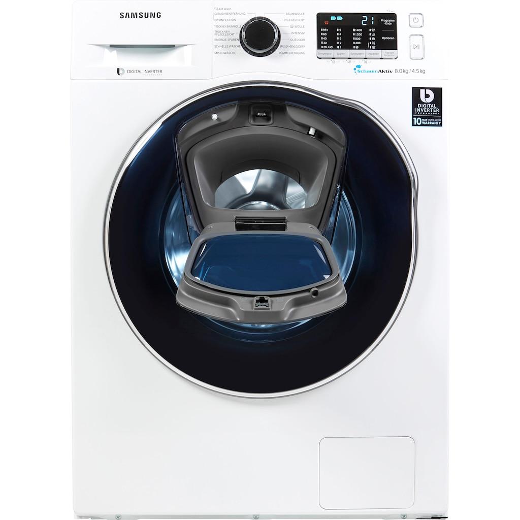 Samsung Waschtrockner »WD8EK5A00OW/EG«, AddWash WD5500, 54 dB, 4 Jahre Garantie