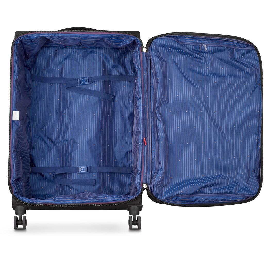 Delsey Weichgepäck-Trolley »Montmartre Air 2.0, 77 cm, blue«, 4 Rollen, mit Volumenerweiterung; aus recycelten Material