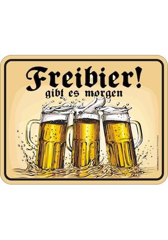 Rahmenlos Blechschild mit lustigem Bier-Motiv kaufen