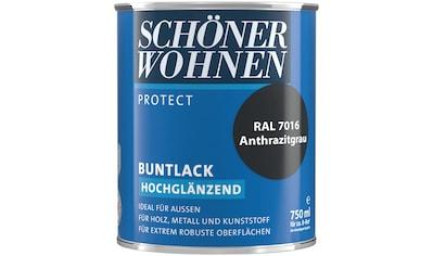 SCHÖNER WOHNEN-Kollektion Lack »Protect Buntlack«, hochglänzend, 750 ml, anthrazitgrau... kaufen
