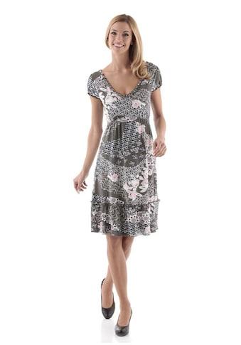 Aniston SELECTED Jerseykleid, mit hohem Volant-Abschluss kaufen