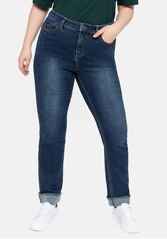 Sheego Gerade Jeans, mit REPREVE® Polyesterfasern kaufen