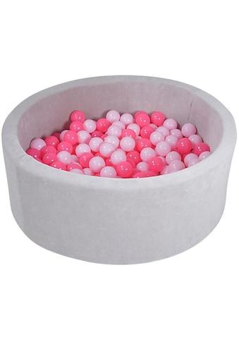 Knorrtoys® Bällebad »Soft, Grey«, mit 300 Bällen soft pink; Made in Europe kaufen