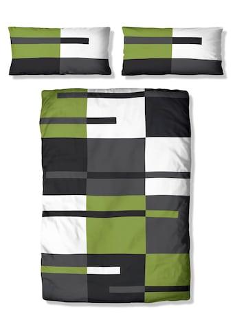 my home Bettwäsche »Meggi«, mit modernem Karo und trendigen Streifen kaufen