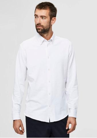 SELECTED HOMME Langarmhemd »OLIVER-KNIT FLEX SHIR« kaufen