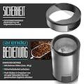 Arendo Kaffeemühle mit Edelstahlmesser