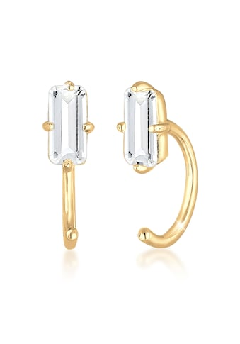 Elli Paar Ohrhänger »Creolen Stecker Hoops Edelstein 925 Silber« kaufen