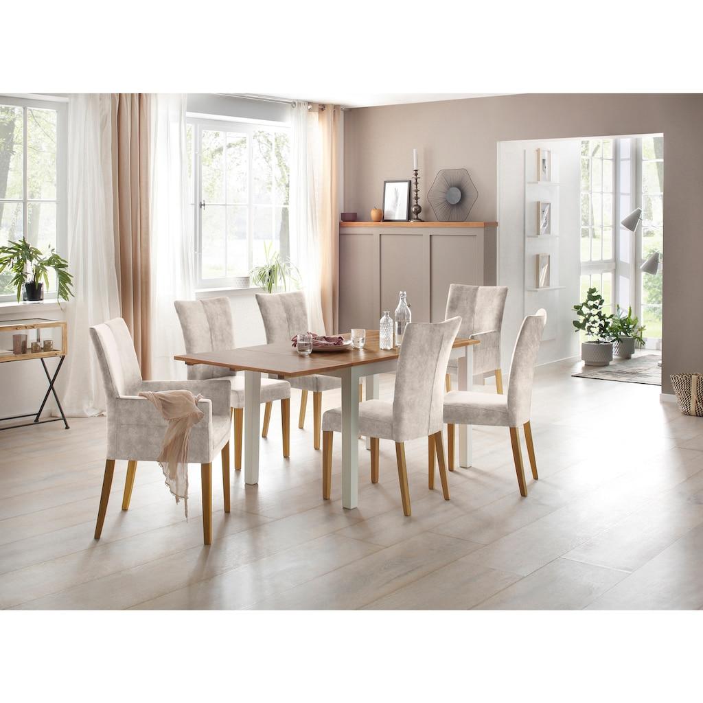 Home affaire Esstisch »Samba«, Breite 120 cm, mit ausklappbarer Tischplatte