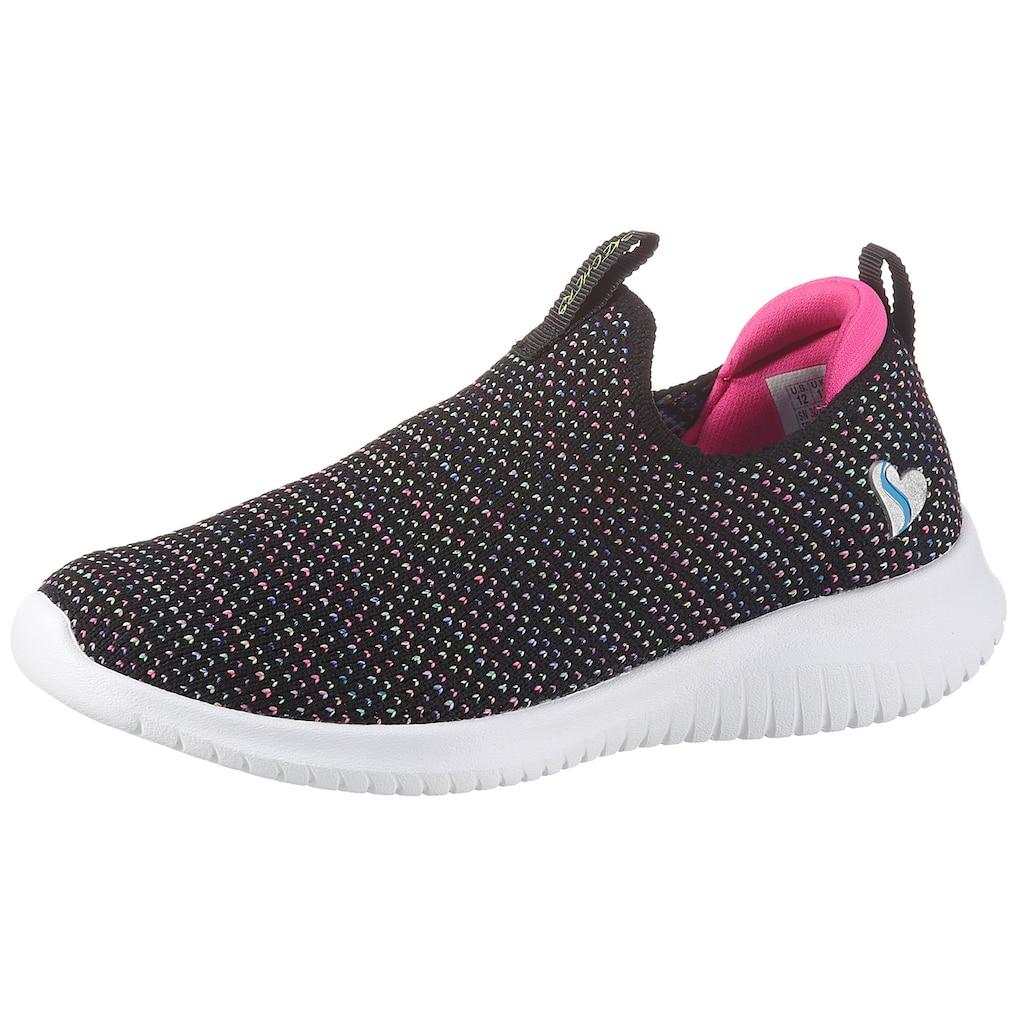 Skechers Kids Slip-On Sneaker »ULTRA FLEX«, mit gepolstertem Fersenpart