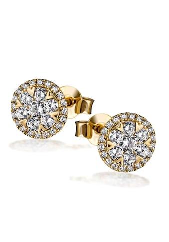 goldmaid Paar Ohrstecker 585/ -  Gelbgold 54 Brillanten 0,70 ct. P2/H kaufen