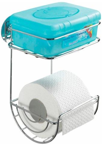 WENKO WC - Rollenhalter Turbo - Loc, mit Ablage kaufen