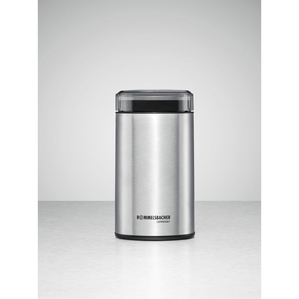 Rommelsbacher Kaffeemühle, 200 W, Schlagmesser, 70 g Bohnenbehälter