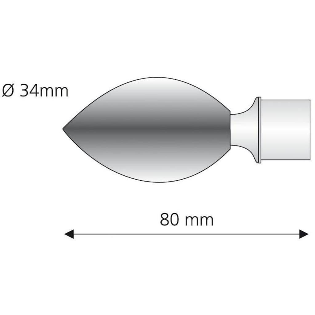Liedeco Gardinenstangen-Endstück »Egg«, für Gardinenstangen Ø 16 mm
