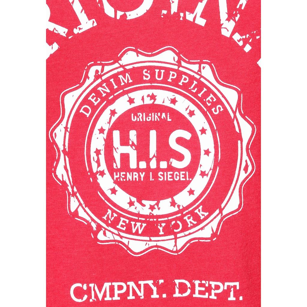 H.I.S Kurzarmshirt, mit Heritage-Print von H.I.S