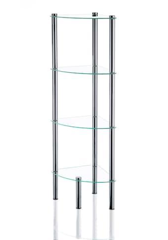 kela Badregal »Ole«, Badezimmer Eckregal mit 3 oder 4 Glasablagen kaufen