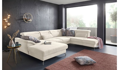 sit&more Wohnlandschaft, 12 cm Fußhöhe, inklusive Sitztiefenverstellung, wahlweise... kaufen