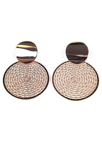 J.Jayz Paar Ohrstecker »mit runden Details, vergoldet, modern« kaufen