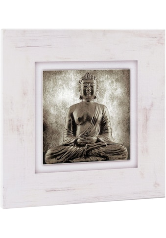 Home affaire Holzbild »Sitzender Buddha«, 40/40 cm kaufen