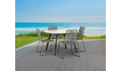 BEST Gartenmöbelset »Symi«, 5 - tlg., 4 Sessel, Tisch Ø120 cm kaufen