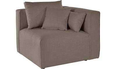 Guido Maria Kretschmer Home&Living Sofa-Eckelement »Marble«, Modul-Ecke zur indiviuellen Zusammenstellung eines perfekten Sofas, in 3 Bezugsvarianten und vielen Farben kaufen