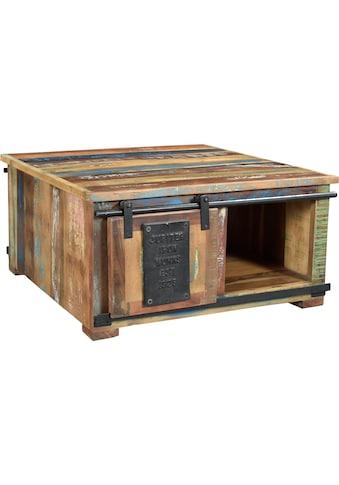 SIT Couchtisch »Jupiter«, aus recyceltem Altholz, mit Schiebetüren, Shabby Chic,... kaufen