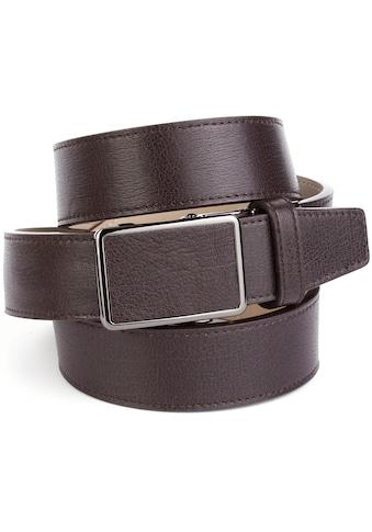 Anthoni Crown Ledergürtel, für Freizeithosen, Ton in Ton Steppung kaufen