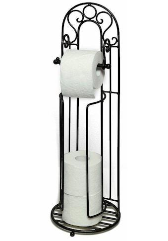 Ambiente Haus Toilettenpapierhalter »Antik«, schwarz kaufen