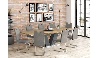 Esstisch »Komfort D«, mit V-Gestell in graphit und mit Auszugsfunktion, Breite 180-280 cm kaufen
